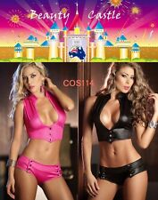 Sexy Lingerie Sets Faux Leather Women's Bikini Clubwear Dance Costumes COS114