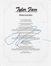 REDNECK CRAZY TYLER FARR SIGNED WHISKEY IN MY WATER LYRIC SHEET