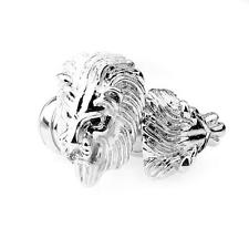 Vintage Men's Wedding Gift Classical Lion Head Cufflinks Cuff Links Silver