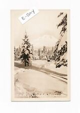 Oregon Ore, Snow Scene, Mt Hood Midwinter, RPPC real photo, vintage postcard