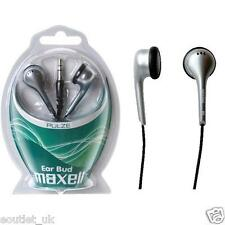 Maxell Pulze In Ear Earphones Headphones for MP3, iPod, iPhone, iPad Silver NEW