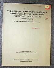 1959 GOLDEYE Commercial Fishing FISHERY Red Lake MINNESOTA MN Grosslein FISH