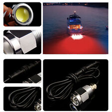 "Red Boat Drain Plug Underwater LED Light For Fishing Swimming Diving 1/2"" NPT"