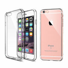 For Apple iPhone 6/ 6s Slim Transparent Crystal Clear Soft TPU Back Cover Skin