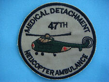 VIETNAM WAR WH PATCH, US 47th MEDICAL DETACHMENT. HELICOPTER AMBULANCE