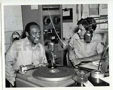 1960's Photo~black guest on Air Force radio, airman DJ, 8x10, m66520