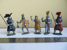 Ancienne vintage plomb timpo toy soldiers chevaliers de la table ronde & king arthur a/f