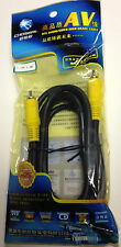 Choseal 1.8M AV OFC Audio/ Video High Grade Dvd Cable Black With Gold Connector