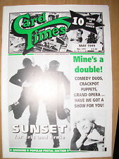 CARD TIMES MAGAZINE FORMERLY CIGARETTE CARD MONTHLY No 111 MAY 1999
