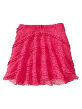 NWT New Gap Kids Girl Ruffle Lace Skirt S 6-7
