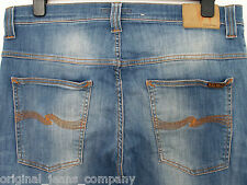 Nudie thin finn true swedish blue jeans N345 W36 L30 (a260)