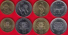 Somalia set of 4 coins: 10 - 100 shillings 2000-2002 UNC