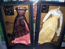 Lot of 2 FRANKLIN MINT TITANIC Rose Doll Ensembles DINNER & STROLL Dresses NRFB