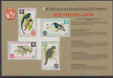Seychelles: CONGRESSO ORNITOLOGICO 1976 foglio in miniatura SG ms373 Gomma integra, non linguellato