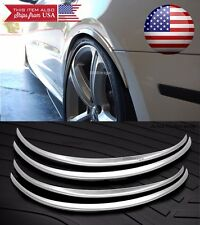 "2 Pairs Silver Flexible 1"" Wide Body Fender Arch Extension Lip For Hyundai Kia"