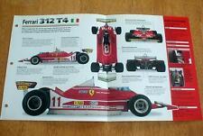 1979 FERRARI 312 T4 FORMULA 1 RACER UNIQUE IMP BROCHURE