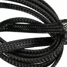 Braided Expandable Cable Loom Auto Harness Wire Sleeving Sheathing 16mm BLACK 1m