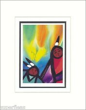 New SPARKS FLY by JERRY WHITEHEAD Native Vancouver artist - Matted art print