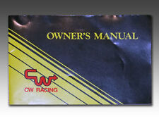 Original old school rare CW Racing BMX bicycle, owner's manual, new condition