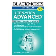 Blackmores Lutein-Vision 60 Caps Protect Eye Macular Health Good Eyesight