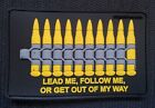 """PVC BULLET 3D PATCH s2 ammo """"GET OUT OF MY WAY"""" MOLLE DEVGRU SOF UKSF PCU VELCRO"""