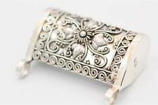 Sterling Silver 925 Bali Made and Designed Pill or Prayer Box w Double Bale.