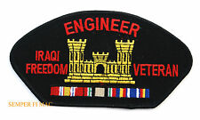 Combat Engineer IRAQI IOF Veteran HAT Patch US ARMY SAPPER CASTLE MEDAL RIBBONS