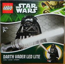 """Star Wars Darth Vader 8"""" Figure on Base LED LITE Nightlight 2013 LEGO NEW UNUSED"""