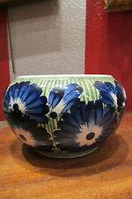 ancienne coupe vase faience copenhague copenhagen signé fleurs bleues