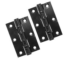 "Black Stainless Steel 3"" Ball Bearing Butt Hinge (Eclipse 14917)"