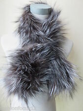 Free shipping/real best silver fox fur  hand  knitted scarf (new style)