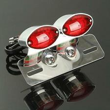 Custom Motorcycle Brake License Plate Tail Light With Integrated Turn Signal New