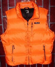 RLX Ralph Lauren Down Vest Men XL Orange Hood Puffer Jacket Polo Sport New NWOT