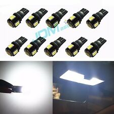JDM ASTAR 10x T10 Super White 5630 SMD LED Lights Bulbs 194 168 175 W5W 2825 192