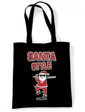 SANTA STYLE SHOULDER BAG - Father Christmas Claus Gangnam Psy Gift Present Tote