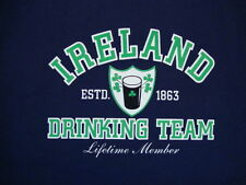 Ireland Drinking Team Beer Booze Lifetime Member Funny Irish Party T Shirt L