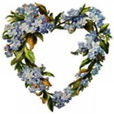 30 Custom Flower Heart Wreath Personalized Address Labels