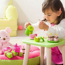16 PCS Wooden Birthday Party Tea Cake Pretend Play Cutting Set