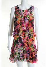 NWT NICOLE MILLER ARTELIER Multicolored Floral Print Tired Dress Sz 4 $410
