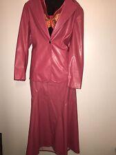 Women's Shspe Fix Newport News PU Leather Skirt Suit Size 18 Jacket 16 Skirt