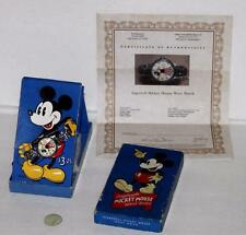 "EX!DISNEY 1935 INGERSOLL""MICKEY MOUSE WATCH""+7 LINK BAND+SERVICE+COA+BLUE BOX VS"