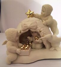 "Snowbabies ""I'll Be Home For Christmas"" Plug In Lamp Nightlight Dept 56"