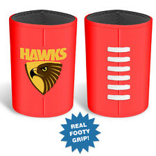 Hawthorn Hawks AFL Can Cooler Stubby Holder Moulded Silicon Ball Fathers Day