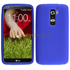 Silicone Soft Slim Rubber Gel Case Cover Skin for Android Phone LG G2 Blue
