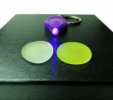 Uranium Glass - 2 Specimens & 1 UV Light - Geiger Counter Check Source (000023)