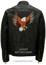 LARGE BALD EAGLE - EMBROIDERED MOTORCYCLE BIKER PATCH IRON-ON HUGE PATRIOTIC