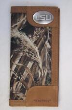 ZEP-PRO LSU Tigers Leather & Nylon REALTREE MAX-5 Camo Wallet BURLAP GIFT BAG