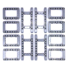 Lego Technic Medium Stone Grey Studless Frames Boxes #1 - 12 Parts - NEW