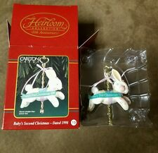 """Carlton Cards """"Baby's Second Christmas"""" Ornament 1998"""