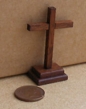 A 1:12 Scale Wooden Altar Cross Dolls House Miniature Church Furniture
